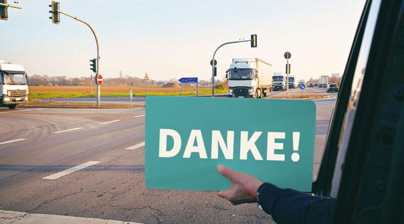 Transportbotschafter Petition Wertschätzung