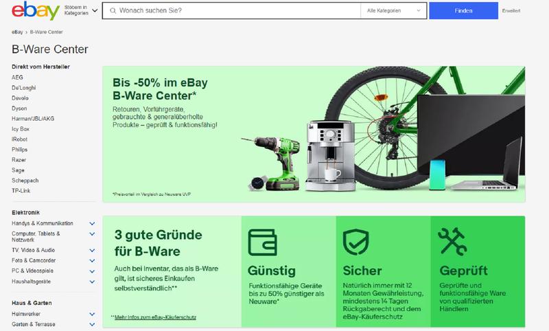 eBay B-Ware Center gestartet