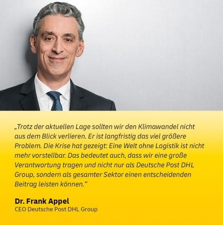 Dr. Frank Appel - CEO Deutsche Post DHL Group