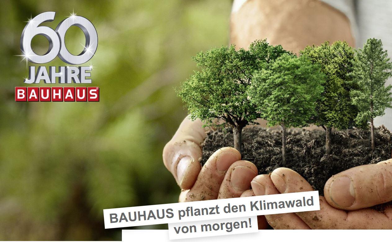 Bauhaus Klimawald Aktion - 1 Million Bäume