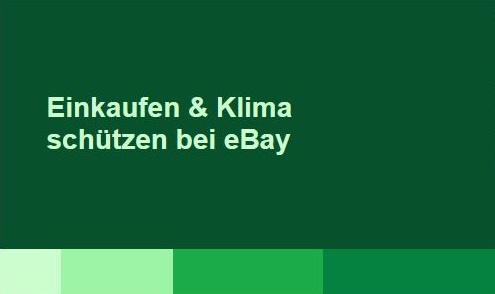 Einkaufen und CO2 ausgleichen bei eBay.de