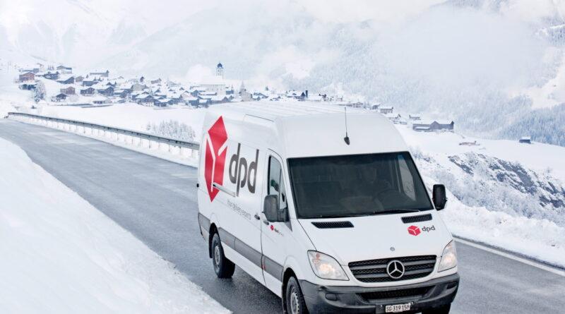 DPD Auto im Schnee
