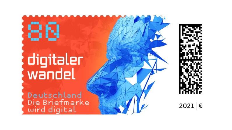 Briefmarke Matrixcode