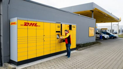 DHL Packstation an JET Tankstelle